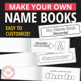 Name Practice Activity Books - Editable Name Writing Pract