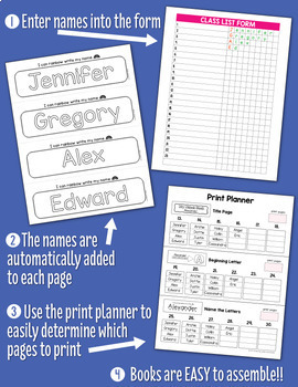 Name Practice Activity Books - Editable Name Writing Practice Books