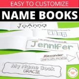 Name Books Editable for Name Writing Practice