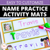 Name Practice Activity Mats - Editable Name Writing Practice Mats