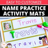 Name Practice Activity Mats - Editable Name Writing Practice Mats