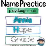 Editable Name Playdough Mats - Play Doh Mats
