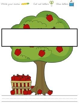 Name Practice Apple Trees