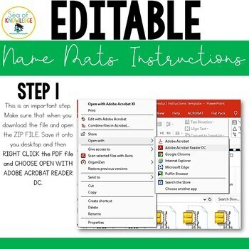Name Practice Building Blocks Mats - Editable