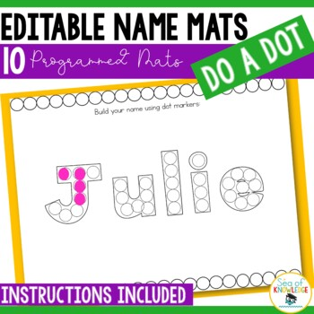 Editable Name Practice Bundle - Correct Name Fine Motor Formation Mats