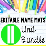 Editable Name Practice Bundle - Correct Name Fine Motor Fo