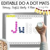 Name Practice Do a Dot Mats - Editable