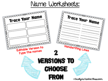 Name Practice **Editable**