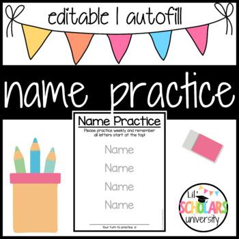 Name Practice - Editable