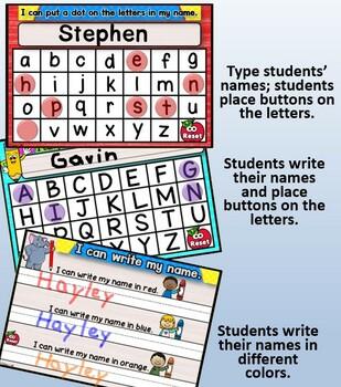 Name Practice Interactive Activities