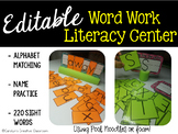 Name Practice, Letters, and Sight Word building: Hands-on Word Work