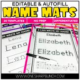 Name Practice Mats Editable | Name Activities