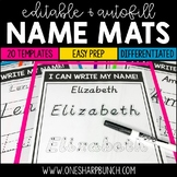 Name Practice Mats Editable {Italicized Font}