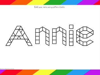 Name Practice Pattern Blocks - Editable