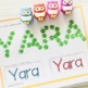 Editable Name Practice Play Dough and Tracing Mats Template