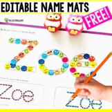 Name Practice Play Dough and Tracing Mats Editable Template
