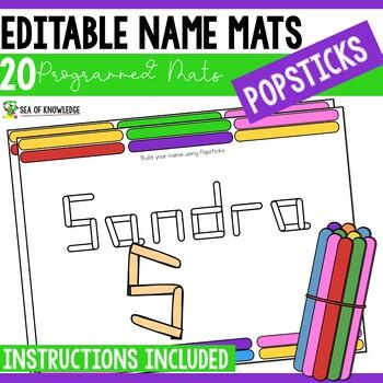 Name Practice Popsicle Sticks - Editable