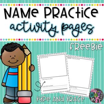 Name Practice Sheet