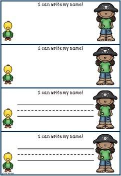 Preschool Name Practice Sheets