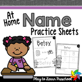 Name Practice Sheets [At-Home]