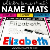 Name Practice Trace & Build Mats Editable | Name Activities