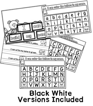 Name Practice Wipe Off Cards and Printables