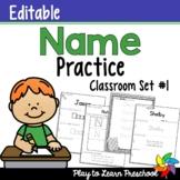 Name Practice - Editable *Set 1