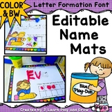Name Practice on Editable Activity or Play Dough Mats