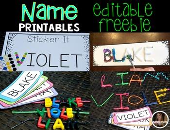 Name Printables Editable {Freebie}