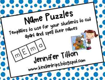 Name Puzzle Templates by kindertrips | Teachers Pay Teachers