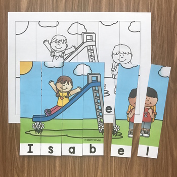 Name Puzzles - School Theme
