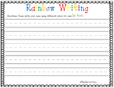 Name Rainbow Writing (Non-Editable)