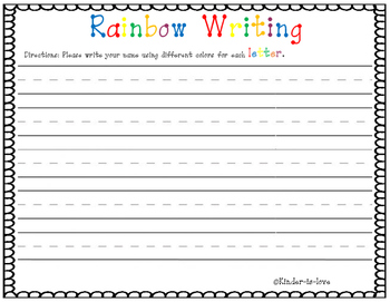 Name Rainbow Writing (Non-Editable)
