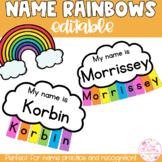 Editable Name Practice Rainbows