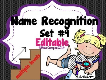 Name Activities with Beginning Sounds - EDITABLE