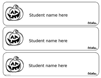 Name Recognition Cards - EDITABLE