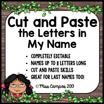Name Activities with Letter Matching - EDITABLE