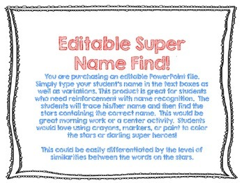 Name Recognition Super Heroes