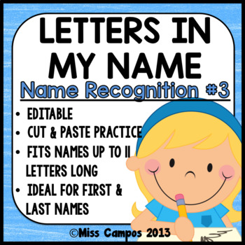 Letters in my Name EDITABLE
