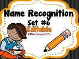Name Recognition with Tracing Practice - EDITABLE