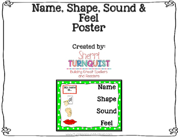 Name, Shape, Sound & Feel Poster: Phonemic Letter Introduction