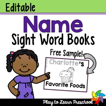 Name Sight Word Book - FREE!