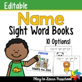 Name Sight Word Books - Editable