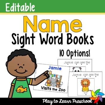 Name Sight Word Books - Editable