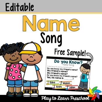 Name Song for Circle Time - FREE by Play to Learn ...