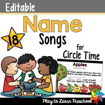 Name Songs for Circle Time - Editable