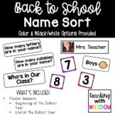 Name Sorting Activity Pack