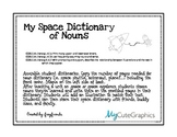 Name: Space Dictionary of Nouns