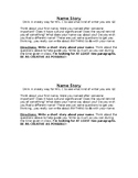 Name Story (get-to-know-you creative writing activity)
