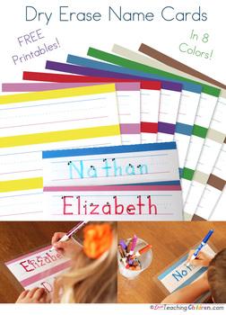 Name Strips Printable - 8 Colors!